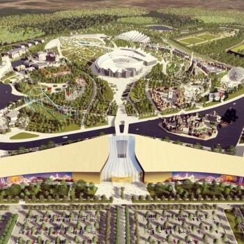 "Town planning concept of the theme park ""Merwert"""